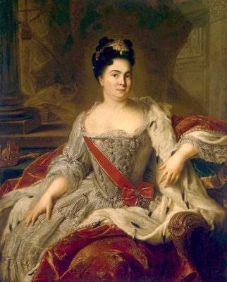 Empress Catherine I Alexeyevna, the second wife of Peter the Great, after his death, she ruled from 1725 until 1727