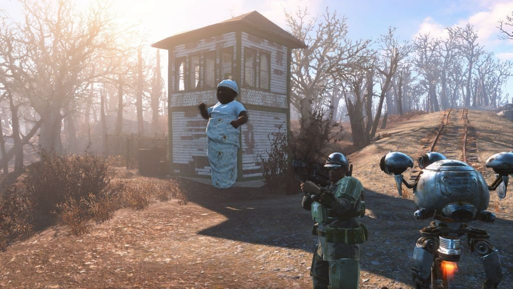 Fallout 4 lanza bebes