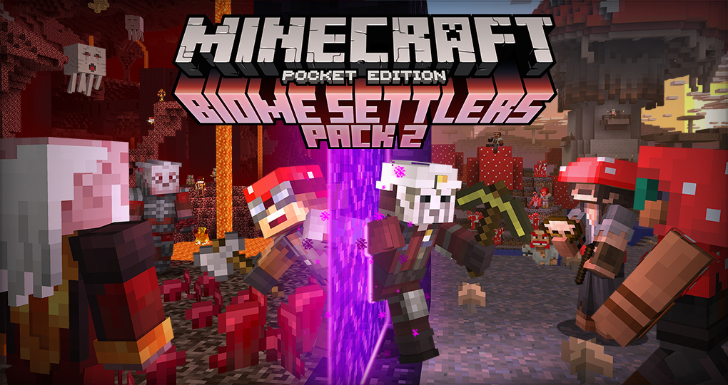 Minecraft Pocket Edition Biome Settlers Pack 2