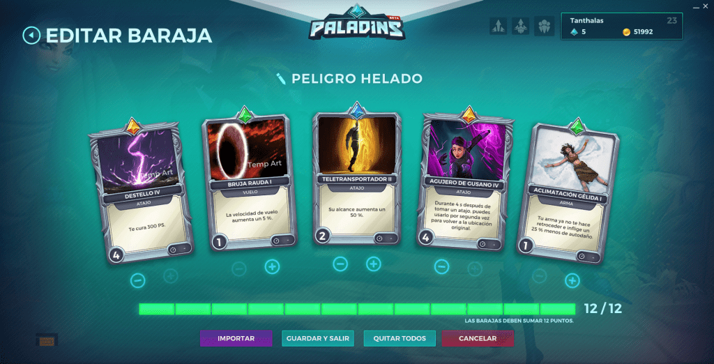 Paladins. Build decks. Evie