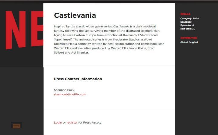 Castlevania cartoon netflix