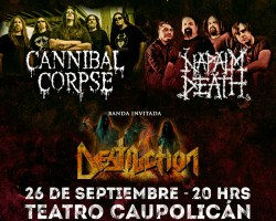 Los alemanes de Destruction se suman a show de Napalm Death y Cannibal Corpse en Chile