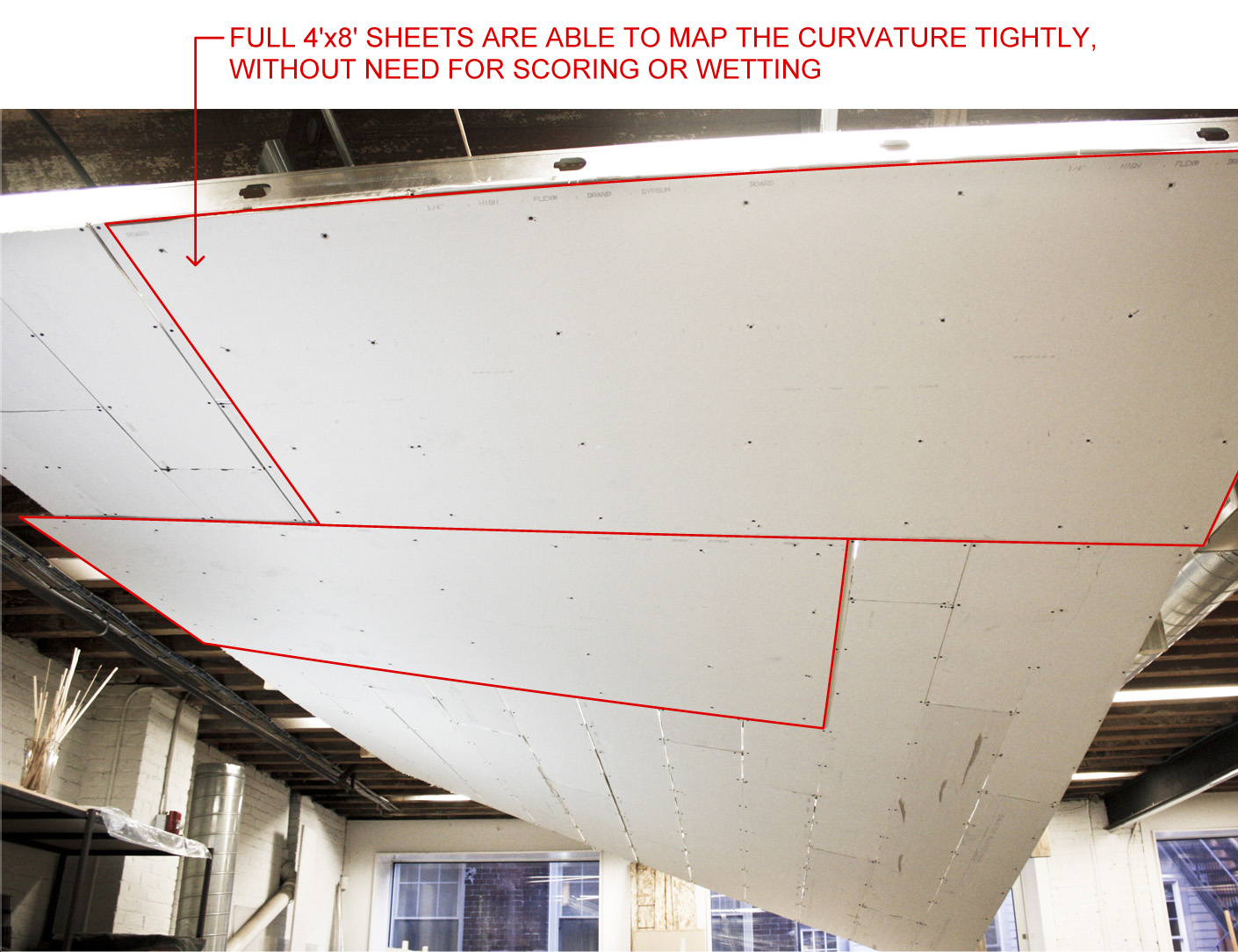 Nadaaa blog dfald hyperbolic paraboloid ceiling mock up for Gold bond joint compound