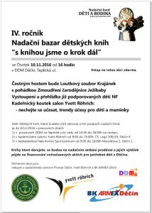 Plakát na 4. Ročník Nadačního bazaru knih