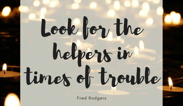 Look for the helpers…