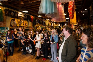 The crowd at Lucky Dry Goods