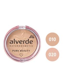 alverde Pure Beauty Mattierendes Kompaktpuder (010 cashmere, 020 sand)