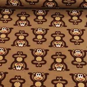 Jersey lustige Affen Braun
