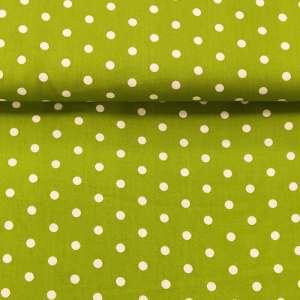 Baumwollstoff Popeline Tupfen Grün