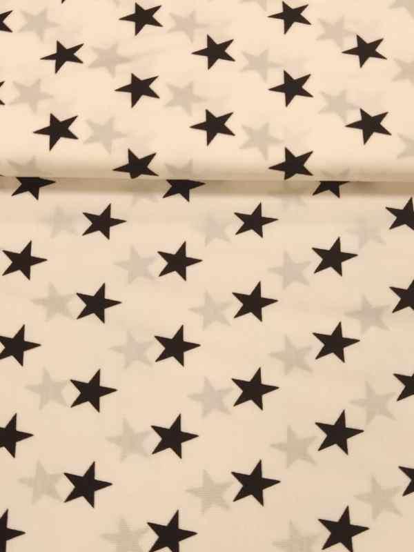 Baumwollstoff Sterne 15mm
