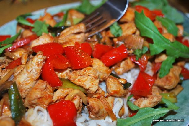 Kycklingwok med ananas - viktväktarna - propoints - viktväktarrecept - vvtillsammans - vvkasse -