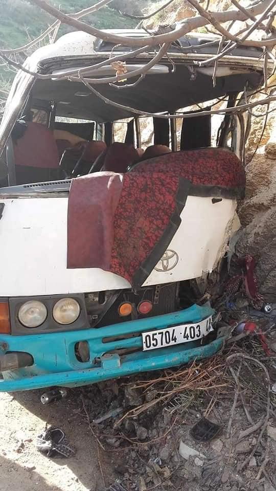 حادث غليزان حافلة