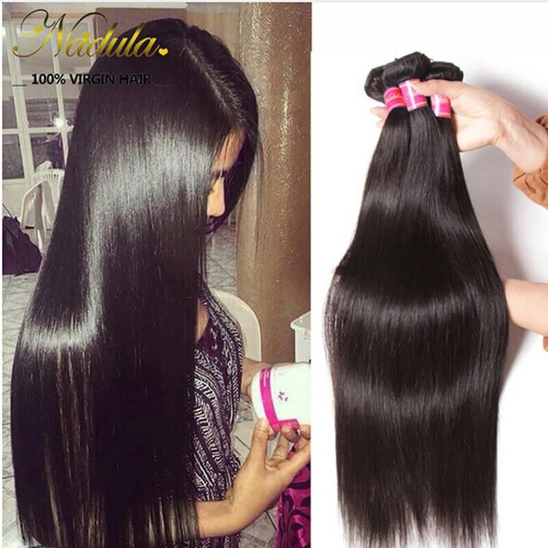 Nadula Cheap Brazilian Hair Bundles 4 Pcs Soft Virgin