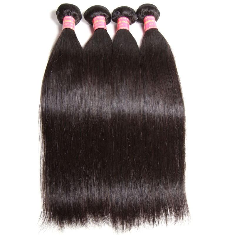 Nadula Cheap Indian Hair Weave Bundles 4 Pcs Thick
