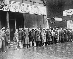 Bread lines during the Great Depression
