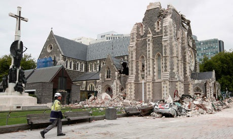 Christchurch Cathedral damage