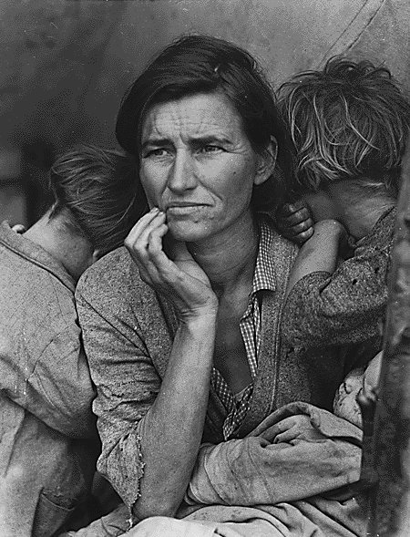 Dorothea Lange photo of Depression-era mother