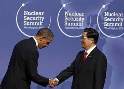 China's Hu Jintao and Obama