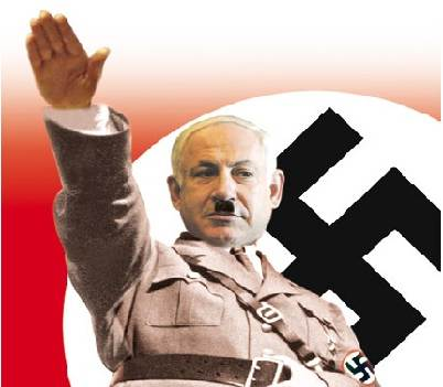 Netanyahu as a Nazi
