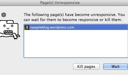 Page(s) Unresponsive