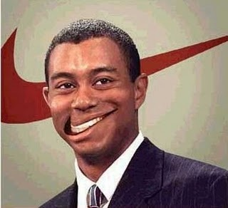 Tiger Wood's smile
