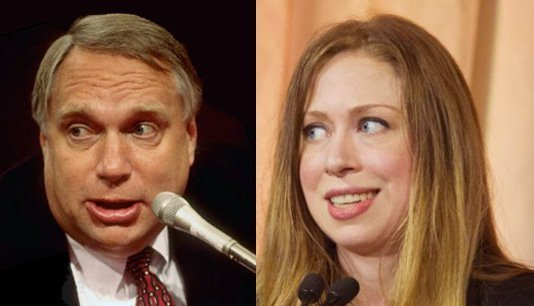 Webster Hubbell and Chelsea Clinton
