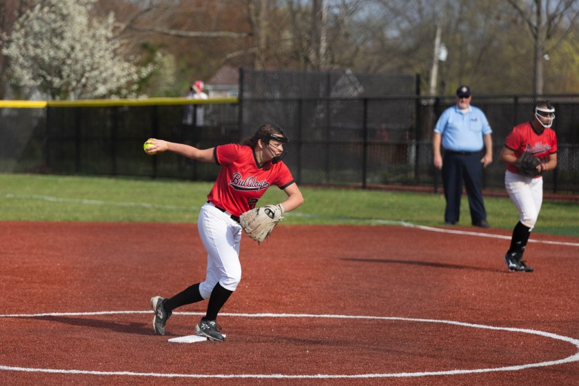 Pitcher winds up a throw