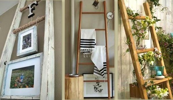 idees recup et recyclage echelle en bois