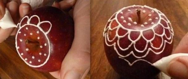 Tuto faire des pommes rouges de Noël