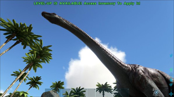 The mighty brontosaurus. If you upset this guy early in the game, he'll give you a fatal tail whip that'll fling you halfway across the map.