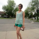 Outfit Of The Day: Mint on green!
