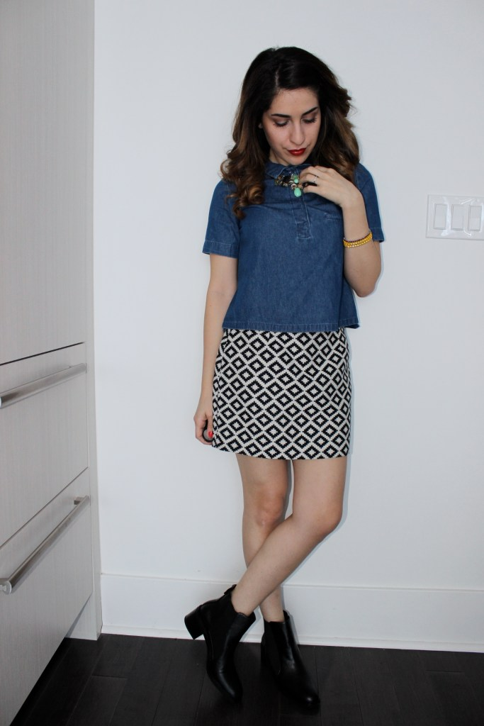 Outfit: Denim and Print