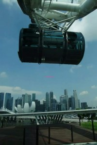 Singapore Flyer - A view when descending