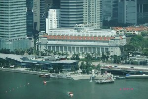 Singapore Flyer - View of The Fullerton Hotel
