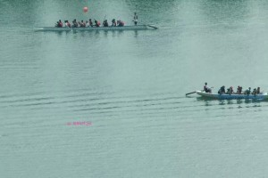 Singapore Flyer - Dragon Boat practice in Kallang River
