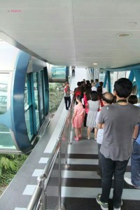 Singapore Flyer - Queuing to Board the Flyer