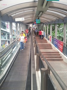 My Last Day in Hong Kong in June 2014 - Descending Esclator for the Mid Level Escalator
