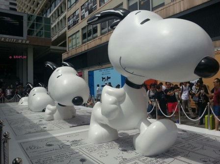Weekend In Hong Kong In July 2014 - Snoopy @ Harbourcity, Entire View @ Harbourcity, Side View