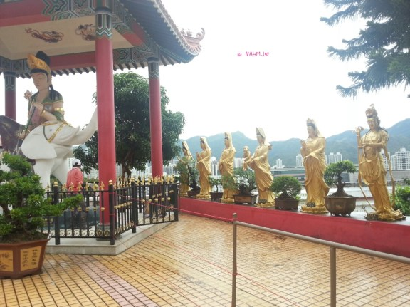 Day 1 In Hong Kong In July 2014 - More Buddhas Statue at Ten Thousand Buddhas Statues, Sha Tin