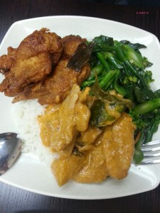 Sweet Basil - Ala Carte, Fried Chicken, Stir Fried Vegetable, Red Curry Chicken
