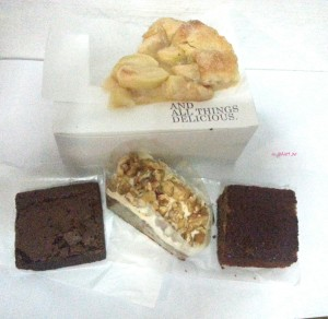 And All Things Delicious - My Takeaway, Apple Galette, Crackly Top Brownie, Carrot Cake, Sticky Toffee Pudding