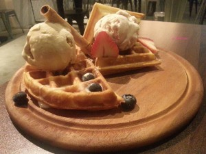 Froth - Buttermilk Waffle with Earl Grey and Strawberry Ice Cream