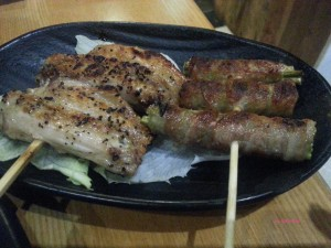 Koh Grill & Sushi - Chicken Wing, Bacon rolled with Asparagus