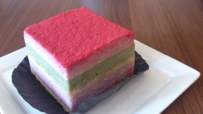 Ukelele Movement - Red Genoise (Raspberry and Pistachio)