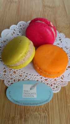The Delights Heaven - Macarons, Salted Caramel, Rose and Passionfruit