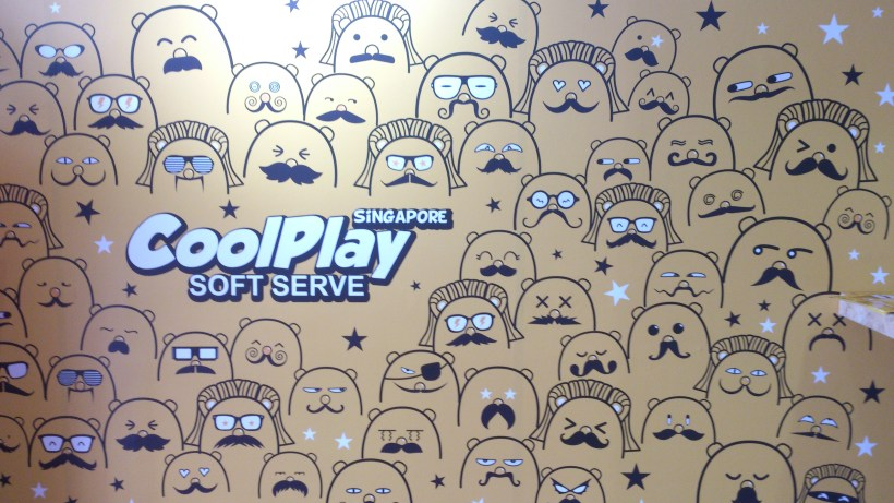 Coolplay Soft Serve Singapore - On a wall