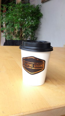 Stamping Ground Coffee House - Cappuccino in a takeaway cup