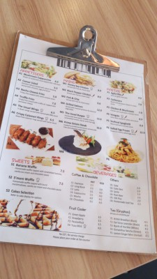 The Usual Place Cafe - Menu