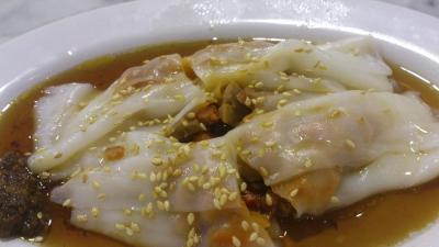 Yum Cha Chinatown - BBQ Pork Rice Flour Roll 叉燒蒸腸粉