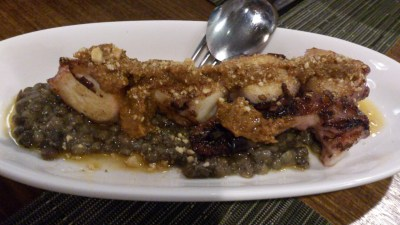 Ola Cocina Del Mar - PULPO, Grilled Spanish octopus with lentils and romesco vinaigrette